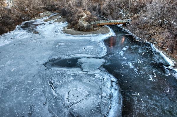 Frozen Hennepin Park