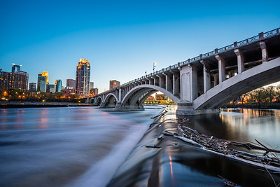 Upper St. Anthony Falls and Third Street Bridge
