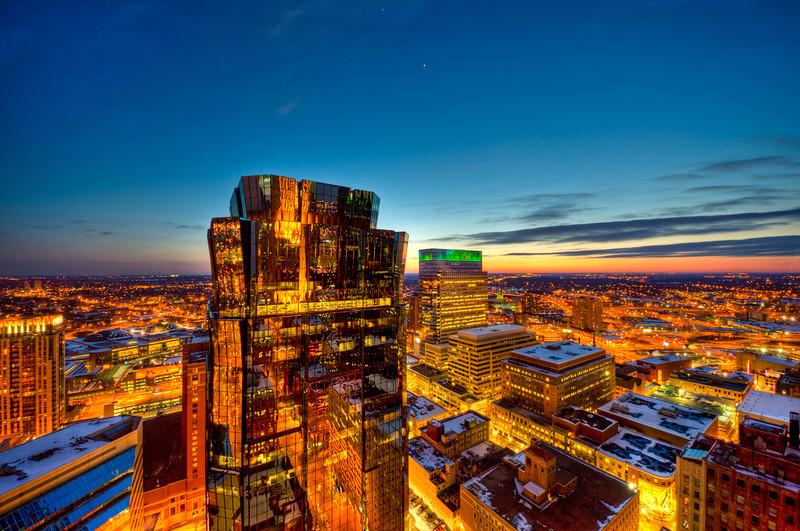 AT&T Tower at Sunset
