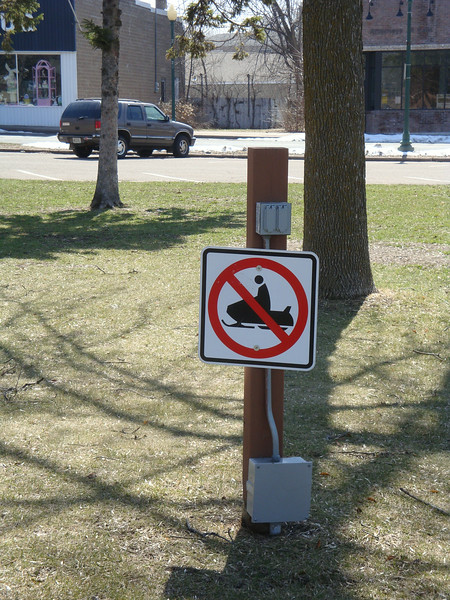 No snowmobiles