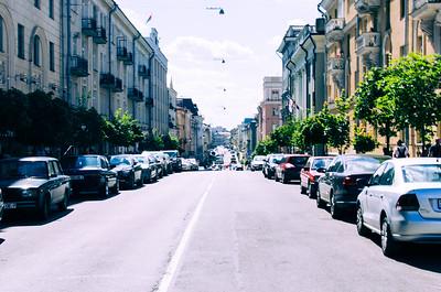 Street in Minsk, Belarus