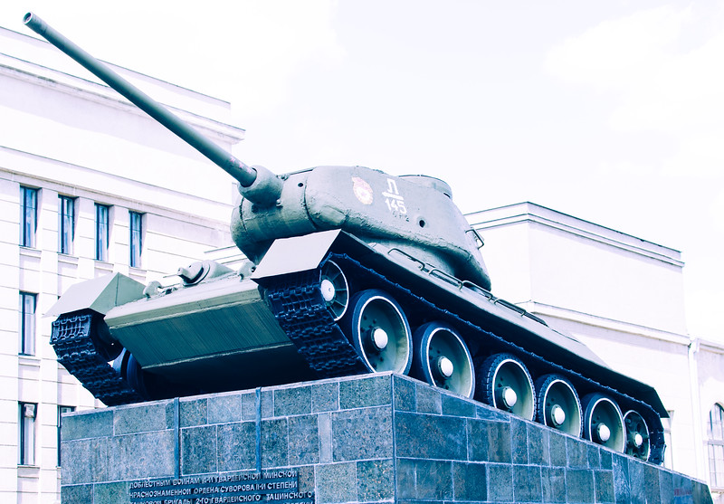 Peaceful tank in Minsk, Belarus
