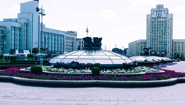 Independence Square in Minsk, Belarus
