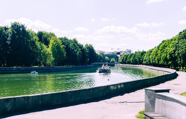 River in Minsk, Belarus