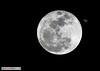 """Super Moon<br /> <br /> I went to Flagpole Hill Saturday night to photograph the moon. It was my first ever attempt at astrophotography and considering the limitations of my equipment I was not unhappy with the results. However when I got home and processed the image I was a little surprised. Obviously some kind of """"atmospheric abnormality:..."""