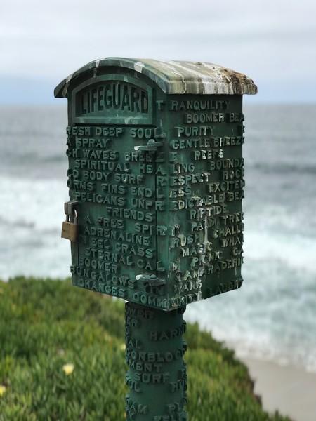 Del Mar Life Guard Lock Box