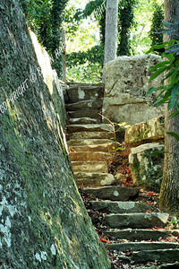 Steps leading up the rocks at Tishomingo SP