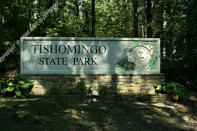 Tishomingo State Park Entrance Sign