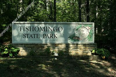 Tishomingo State Park Entrance Sign