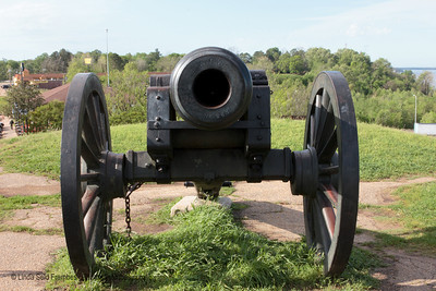 Canons are a common site in Vicksburg, MS. - March 2012