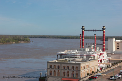 Like many places along the Mississippi River, Vicksburg's waterfront is now dotted with casinos. Here, the Ameristar Casino. - March 2012.