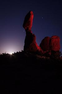 Rising Moon at Balanced Rock