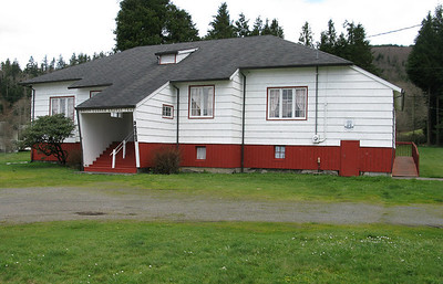 The building on Highway 53 currently owned by White Clover Grange was built in 1921 as Mohler elementary school. The Nehalem school district assumed ownership when it merged with Mohler in 1930, then sold the property to the Grange in 1962.
