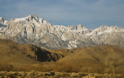 Mt. Whitney, the lower right peak.