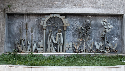 The Garden of Life.  A modern installation on the old town walls.