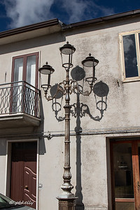 The lampost was typical, but the shadows made it special.
