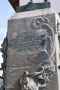 Dedication to war victims .