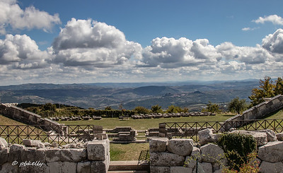 View from behind the amphitheater at Pietrabbondante.  Sitting in the 2500 year old stone seats with this view in front of you is a peak experience.