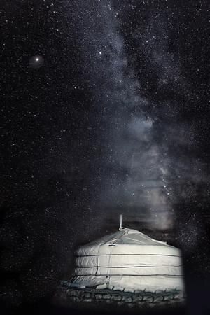 Night Sky III  3 Ger Camel Lodge Mongolia Copyright 2020 Steve Leimberg UnSeenImages Com  _Z2A6337