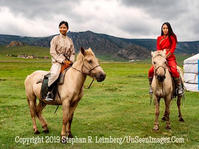 Oyundelger and Maral on Horses Copyright 2019 Steve Leimberg UnSeenImages Com _DSF0774