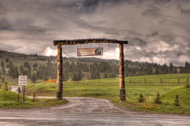 Entrance to Montana Grizzly Encounter, Bozeman, Montana
