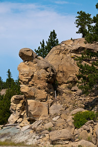 I wonder how that rock formation stays upright. Seems like it should just tip over.