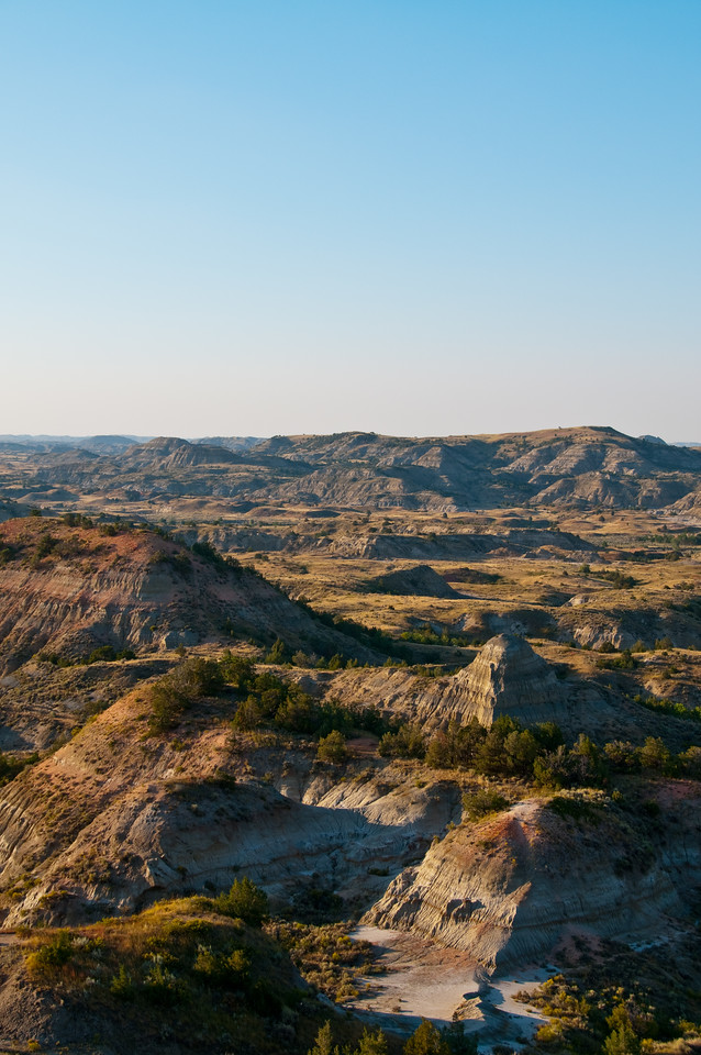 Looking into Theodore Roosevelt National Park.