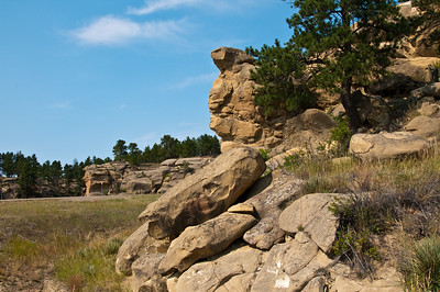 """Another angle on that """"I don't see how it doesn't tip over"""" rock formation."""