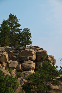 More rocks and trees.