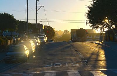 Sunlit Monterey Street