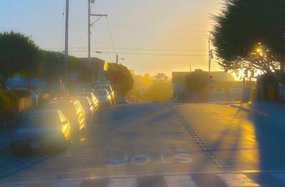 Sunlit Monterey Street (alien version)