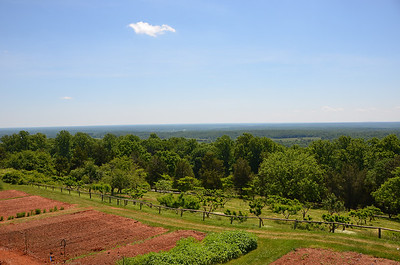 "Gardens overlooking the land below the ""little mountain""."