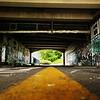 Yellow Line & Graffiti