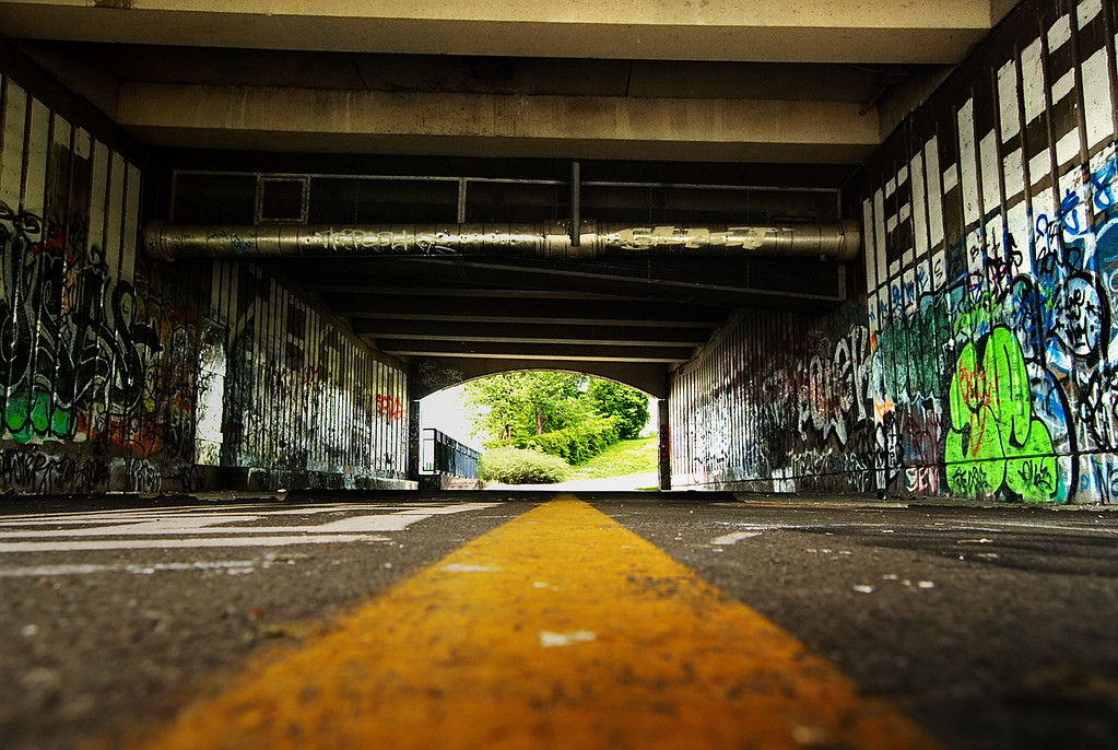 Yellow Line & Graffiti