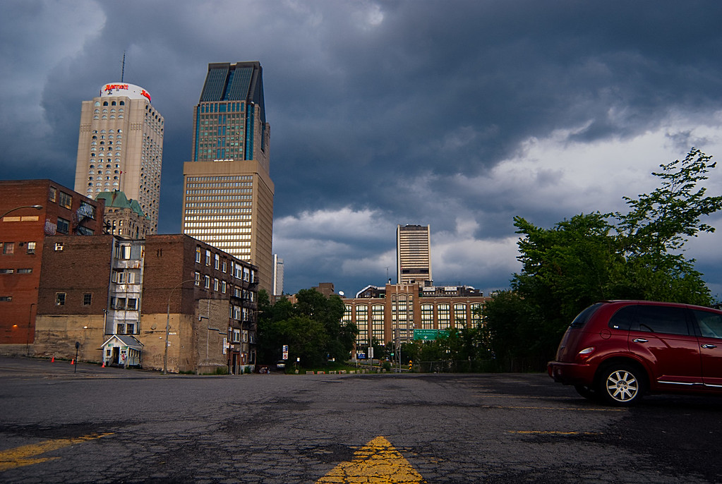 Skyscrapers and Storm Clouds