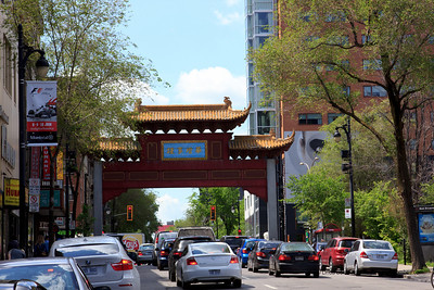 One of the gates of Chinatown in Montreal.