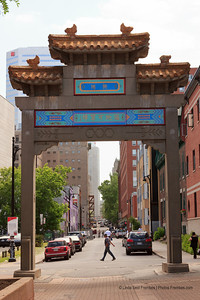 A side gate in Montreal's Chinatown.