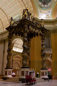 Inside the The Cathedral-Basilica of Mary, Queen of the World (or Cathédrale Marie-Reine-du-Monde) in Montreal.