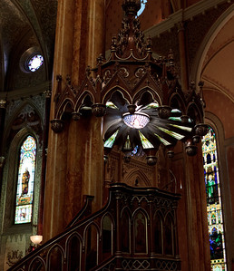 The pulpit inside St. Patrick's Basilica. Kind of gives off a steampunk vibe.