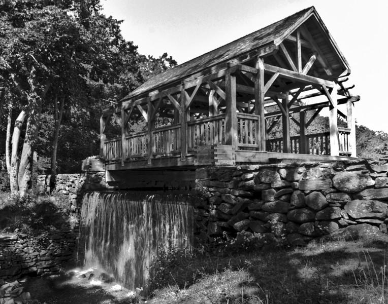 Covered Dam Bridge, B&W