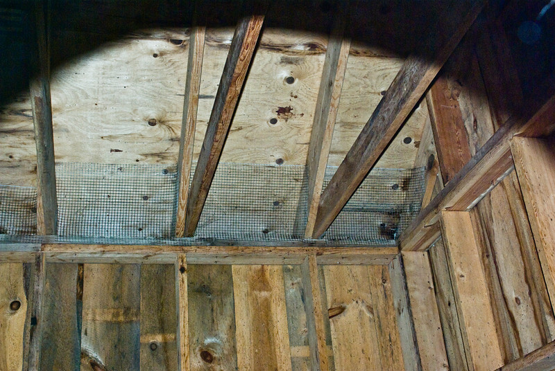 Bat house interior through Bat entry hole.<br /> <br /> From the Worcester Photographers Meetup Click & Shoot of 6/28/08.