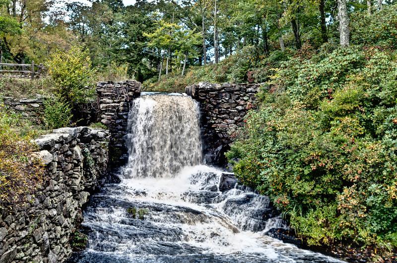 Mill waterfall in near spate.