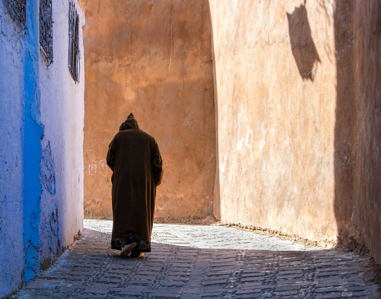 Chefchaouen Street Scene, Morocco