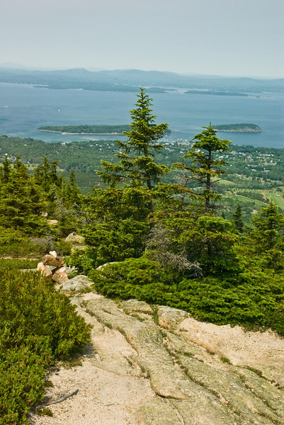 Bar Harbor from the top Mount Desert, Arcadia NP