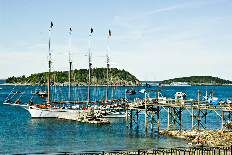 The Maragret Todd at its wharf in Bar Harbor