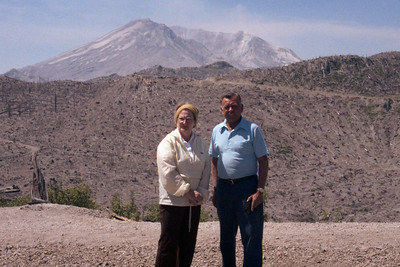 Mom and Dad at Mt. St. Helen