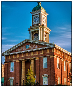 Knox County Courthouse on East High Street in Mount Vernon, Ohio. It was built in 1855 in the Greek Revival style of architecture. The architects were Daniel Clark and John Jennings. The courthouse was listed on the National Register of Historic Places on June 4, 1973. Photo was shot on morning of June 9, 2012.