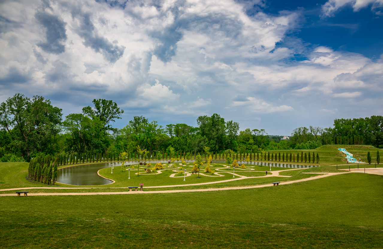 Tree of Life Labyrinth photographed in Ariel Foundation Park in Mount Vernon, Ohio on June 4, 2017 by Joe Frazee.