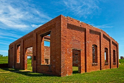 Coxey Building Ruins at Ariel-Foundation Park in Mount Vernon, Ohio on June 23, 2019. Photo by Joe Frazee.