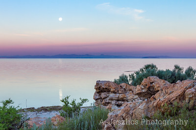 Moonset, Great Salt Lake